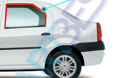 نوار آب بندی دور کلاف شیشه عقب چپ L90 ( ماهوتی - گلسران)