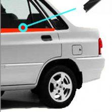 نوار آبگير خارج شیشه درب عقب چپ پرايد( آبگیر بیرونی ) کد:3414536