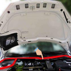 نوار آب بندی عقب درب موتور پژو 206(بونت) کد:3204162