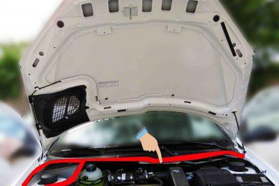 نوار آب بندی عقب درب موتور پژو 206