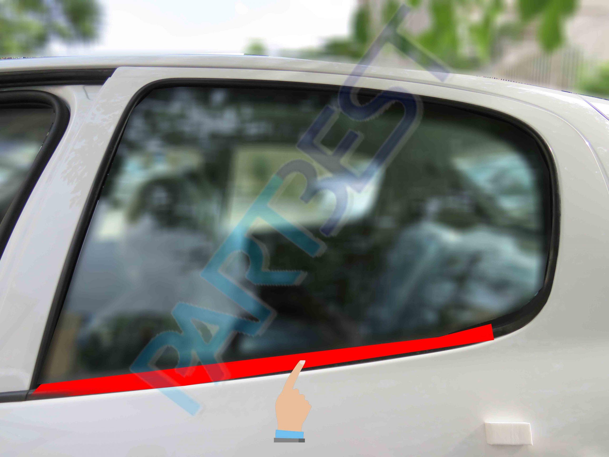 نوار گردگير و نگهدارنده داخل شيشه درب عقب چپ پژو 206